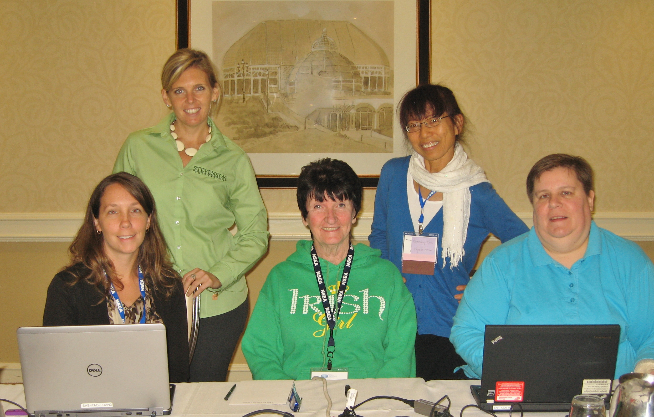 Picture of NEASEA board members, attending conference in Pittsburgh, PA
